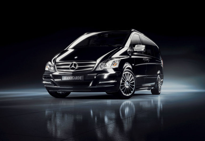 Black minivan for Private Tours & Airport Transfers